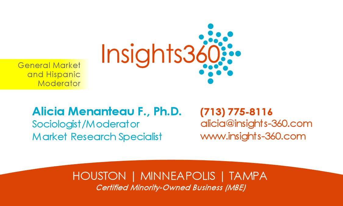 Business Card - Front with Hispanic Callout and MBE